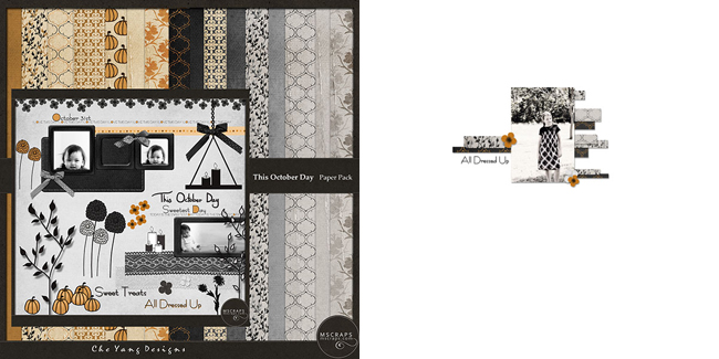 Che Yang Designs - This October Day Kit, EHStudios - Free To Wander. No.6 Template